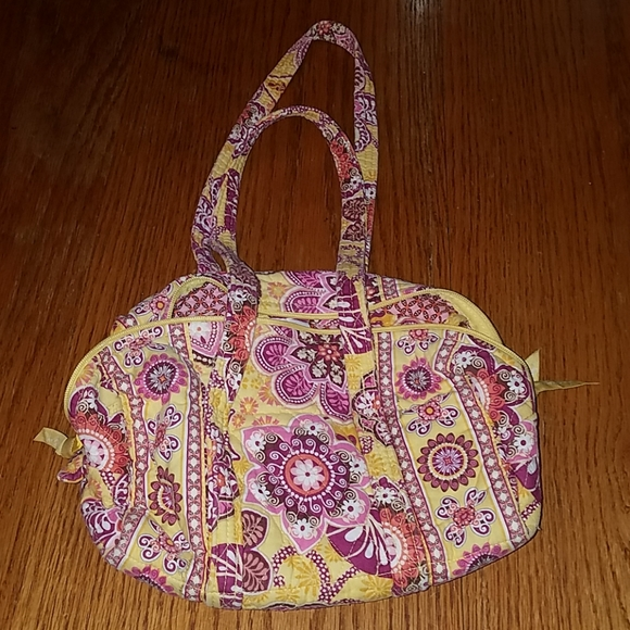 Vera Bradley Handbags - Vera Bradley Yellow & Pink Flowered Purse